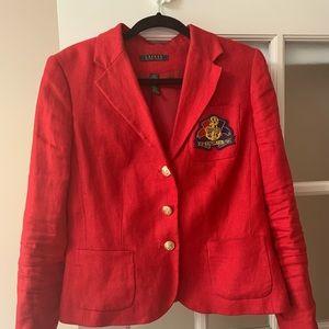 Red blazer Ralph Lauren